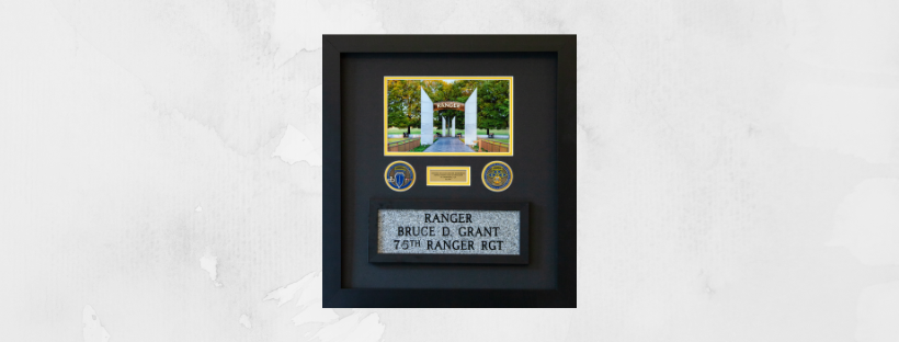 Framed Stone, Coins & Picture